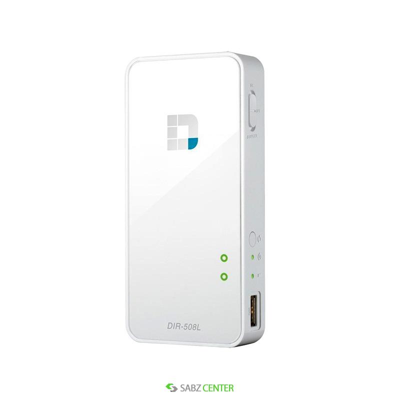 روتر DLink DIR-508L SharePort Go II N300 Portable Router and Charger