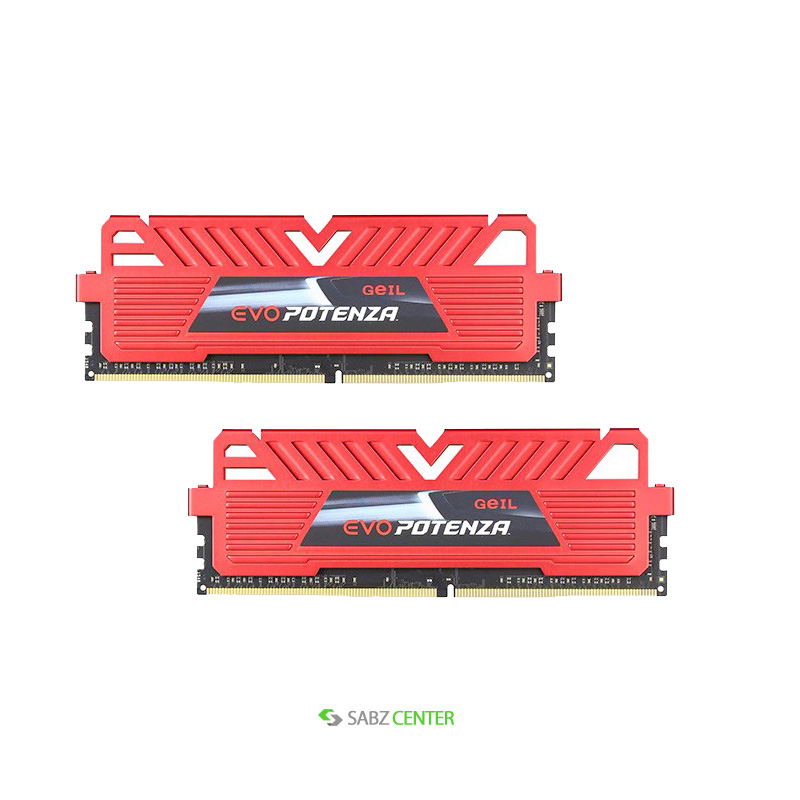 رم Geil DDR4 EVO Potenza Series Dual Channel CL15 2400 MHz 8GB