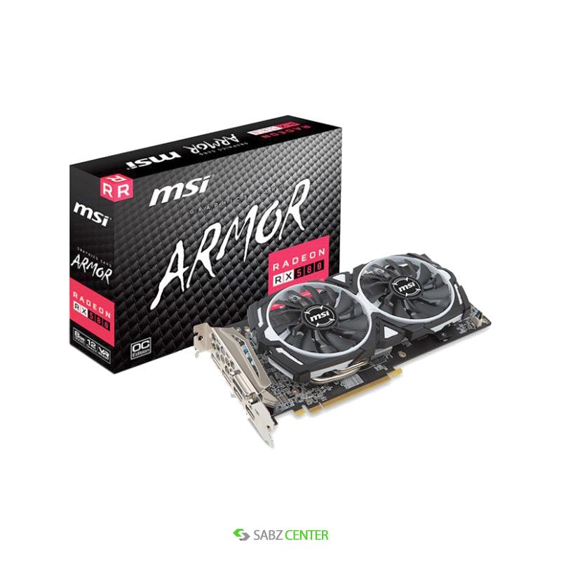 36076کارت گرافیک ام اس آی مدل msi rx580 RADEON RX 580 ARMOR 8G OC