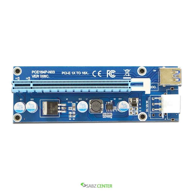 رایزر گرافیک Riser تبدیل PCIe 1X به 16X با رابط کابل USB 3.0 برند Riser مدل 006