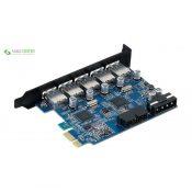 هاب USB3.0 پنج پورت PCI اوریکو مدل PVU3-5O2I - 0
