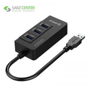 هاب 3 پورت USB 3.0 اوریکو مدل HR01-U3 همراه با پورت RJ45 - 0