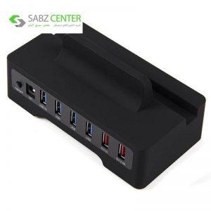 هاب USB3.0 شش پورت به همراه داک اوریکو مدل HSC3-TS - 0