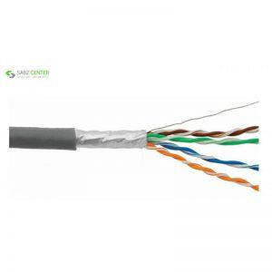 رول کابل شبکه Cat 6 فویل دار سایز 24AWG دی-لینک مدل NCB-C6SGRYR-305-24 طول 305 متر - 0