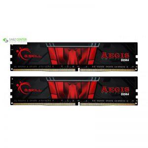 رم دسکتاپ DDR4 دو کاناله 2400 مگاهرتز CL17 جی اسکیل مدل Aegis ظرفیت 16 گیگابایت - 0