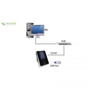 """""""دستگاه حضور غیاب زد کی تی اکو مدل VF300 همراه با 5 عدد کارت ترددو نصب رایگان"""" - 0"""
