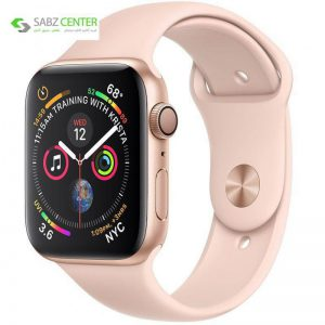 ساعت هوشمند اپل واچ 4 مدل 44mm Gold Aluminum Case with Pink Sand Sport Band - 0