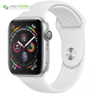 ساعت هوشمند اپل واچ 4 مدل 44mm Silver Aluminum Case with White Sport Band - 0
