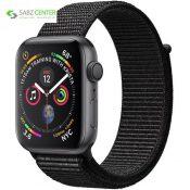 ساعت هوشمند اپل واچ 4 مدل 44mm Space Gray Aluminum Case with Black Sport Loop Band - 0