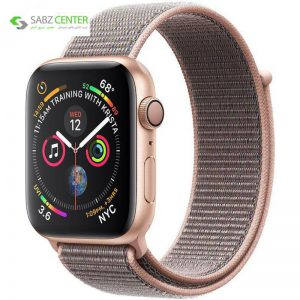 ساعت هوشمند اپل واچ 4 مدل 44mm Gold Aluminum Case with Pink Sand Sport Loop Band - 0