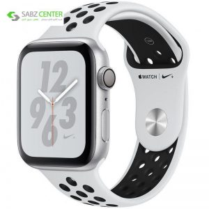 ساعت هوشمند اپل واچ 4 مدل Nike 44mm Silver Aluminum Case with Pure Platinum/Black Nike Sport Band - 0