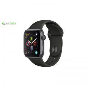 ساعت هوشمند اپل واچ سری 4 مدل 40mm Space Gray Aluminum Case With Black Sport Band - 0