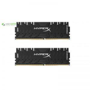 رم دسکتاپ DDR4 دو کاناله 3200 مگاهرتز CL16 کینگستون مدل HyperX Predator ظرفیت 8 گیگابایت - 0