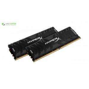 رم دسکتاپ DDR4 دو کاناله 3000 مگاهرتز CL15 کینگستون مدل HyperX Predator ظرفیت 16 گیگابایت - 0
