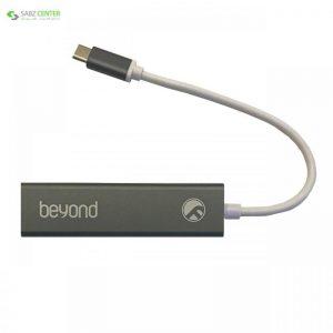 هاب سه پورت USB-C بیاند مدل BA-490 Beyond BA-490 3 Ports USB-C Hub - 0