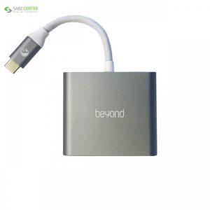 هاب سه پورت USB-C بیاند مدل BA-410 Beyond BA-410 3 Ports USB-C Hub - 0