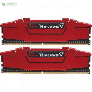 رم دسکتاپ DDR4 دو کاناله 2400 مگاهرتز CL15 جی اسکیل سری Ripjaws V ظرفیت 32 گیگابایت G.SKILL Ripjaws V 2400MHz CL15 Dual Channel Desktop RAM - 32GB - 0