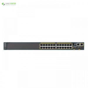 سوییچ 24 پورت سیسکو مدل WS-C2960X-24TS-L Cisco WS-C2960X-24TS-L 24 Port Switch - 0