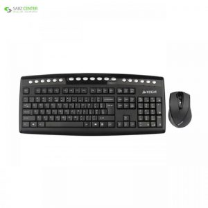 کیبورد و ماوس بی سیم ای فورتک مدل 9100FU A4tech 9100FU Wireless Mouse And Keyboard - 0