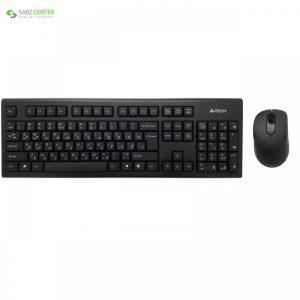 کیبورد و ماوس بی سیم ای فورتک مدل 7100N A4Tech 7100N Wireless Keyboard And Mouse - 0