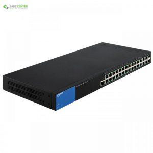 سوییچ مدیریتی 28 پورت لینک سیس مدل LGS528P Linksys LGS528P 28-Port Managed Switch - 0
