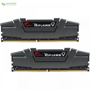 رم دسکتاپ DDR4 دو کاناله 3200 مگاهرتز CL16 جی اسکیل سری Ripjaws V ظرفیت 16 گیگابایت G.SKILL Ripjaws V 3200MHz CL16 Dual Channel Desktop RAM - 16GB - 0