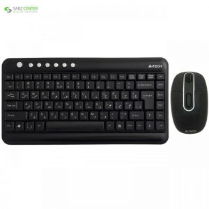 کیبورد و ماوس ای فورتک مدل 7600N A4Tech 7600N Keyboard And Mouse - 0
