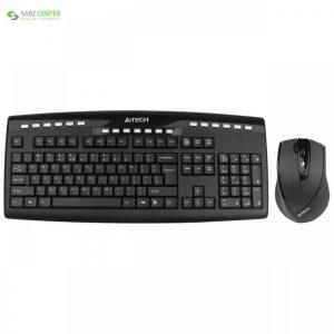 کیبورد و ماوس بی سیم ای فورتک مدل 9200F A4tech 9200F Wireless Keyboard and Mouse - 0