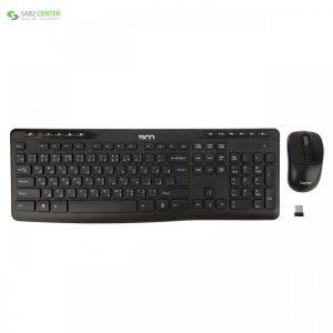 کیبورد و ماوس بیسیم تسکو مدل TKM 7108W TSCO TKM 7108W Wireless Keyboard and Mouse With Persian Letters - 0