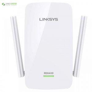 توسعه دهنده محدوده بیسیم ای سی 1200 لینک سیس مدل RE6400-EG Linksys RE6400-EU Wireless AC1200 Range Extender - 0