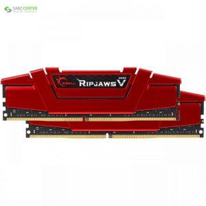 رم دسکتاپ DDR4 دو کاناله 2800 مگاهرتز CL15 جی اسکیل مدل Ripjaws V ظرفیت 16 گیگابایت G.SKILL Ripjaws V DDR4 2800MHz CL15 Dual Channel Desktop RAM - 16GB - 0
