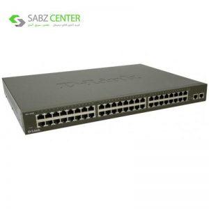 سوییچ 48 پورت مگابیتی و رکمونت دی-لینک مدل DES-1050G همراه با 2 پورت گیگابیتی D-Link DES-1050G 48-Port 10/100Mbps Unmanaged Ethernet Switch + 210/100/1000Mbps Port - 0