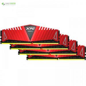 رم دسکتاپ DDR4 چهار کاناله 2400 مگاهرتز CL16 ای دیتا مدل XPG Z1 ظرفیت 32 گیگابایت ADATA XPG Z1 DDR4 2400MHz CL16 Quad Channel Desktop RAM - 32GB - 0
