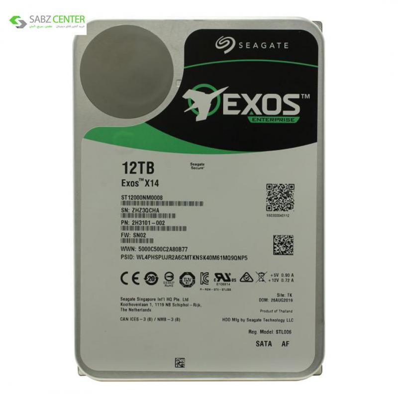 106431هارد دیسک اینترنال سیگیت Exos-ST12000NM0008 ظرفیت12TB