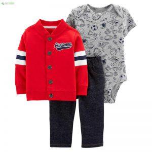 ست 3 تکه لباس نوزادی پسرانه کارترز کد 1024 - 0