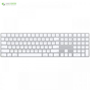 کیبورد بی سیم اپل مدل Magic Keyboard with Numeric Keypad - US English - 0