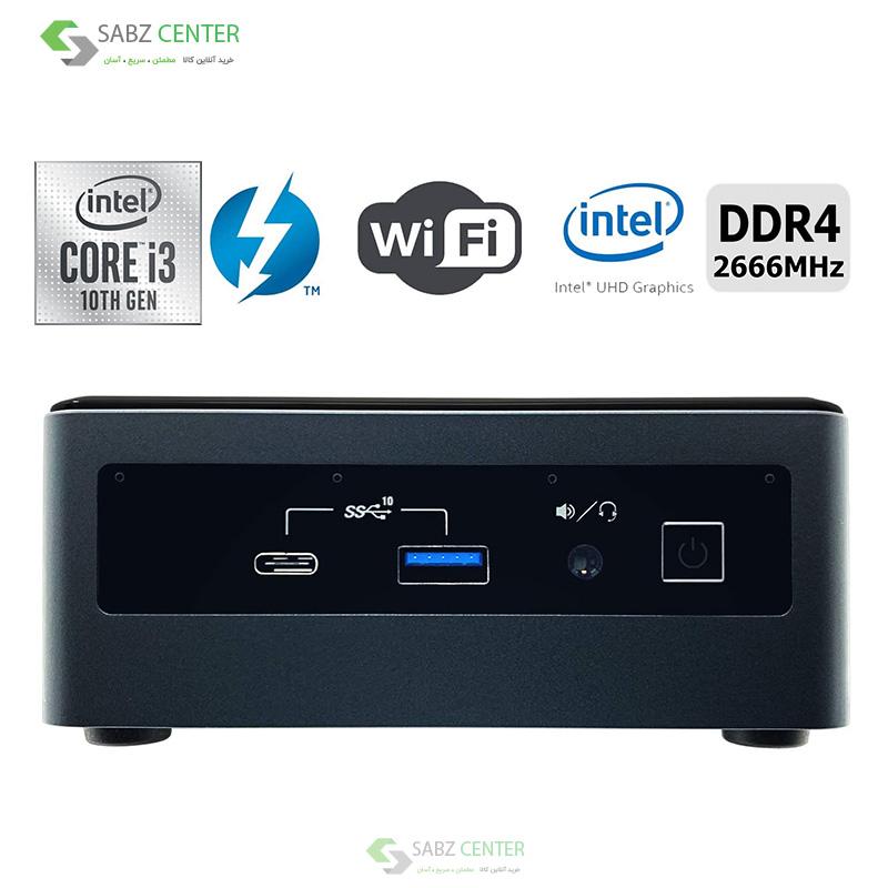 115506مینی پی سی اینتل Intel NUC 10i3FNH 8G-120SSD
