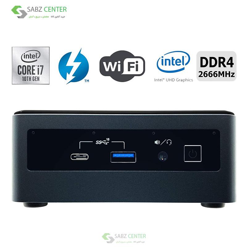 115493مینی پی سی اینتل Intel NUC 10i7FNH 8G-1TB+240M2