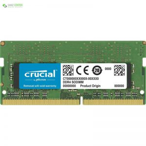 رم لپ تاپ DDR4 تک کاناله 2666 مگاهرتز CL19 کروشیال مدل CT4G4SFS8266 ظرفیت 4 گیگابایت - 0