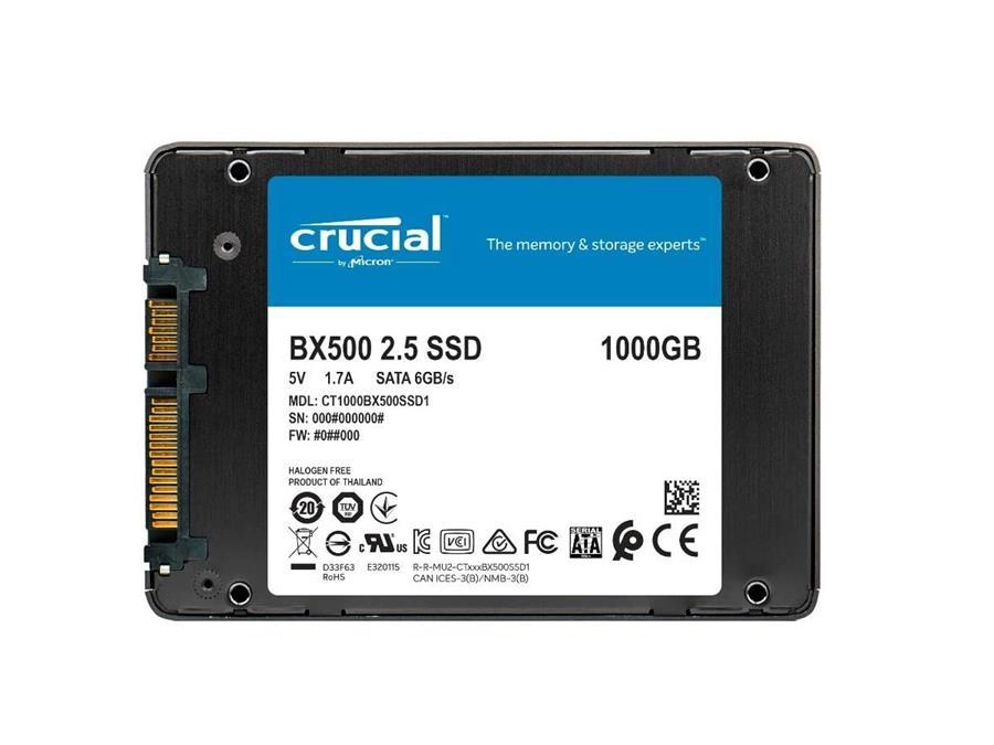 131782اس اس دی کروشیال BX500 1000GB