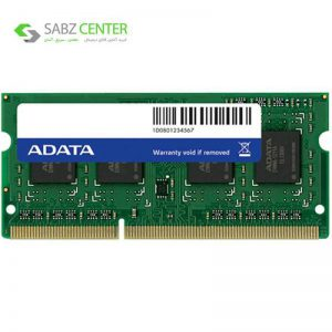 رم لپ تاپ ای دیتا DDR3L 1600MHz ظرفیت 8GB