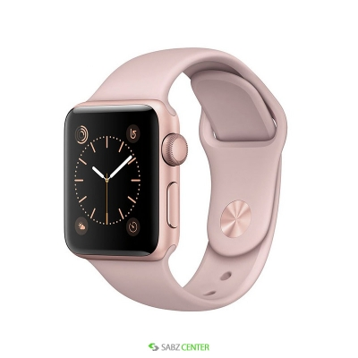 ساعت هوشمند اپل واچ مدل 38mm Rose Gold Case with Pink Sand Band   Apple Watch 38mm Rose Gold Aluminium Case with Pink Sand Sport Band