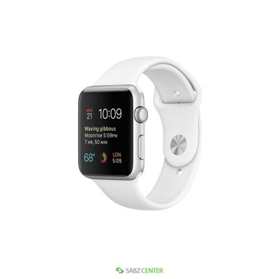 ساعت مچي هوشمند اپل واچ مدل 42mm Silver Aluminum Case with Sport Band   Apple Watch 42mm Silver Aluminum Case with Sport Band