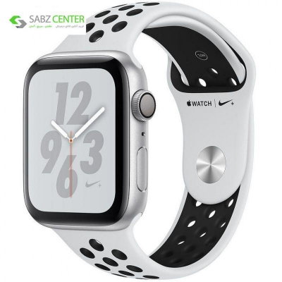 ساعت هوشمند اپل واچ 4 مدل Nike 44mm Silver Aluminum Case with Pure Platinum/Black Nike Sport Band | Apple Watch Serie 4 GPS Nike 44mm Silver Aluminum Case with Pure Platinum/Black Nike Sport Band