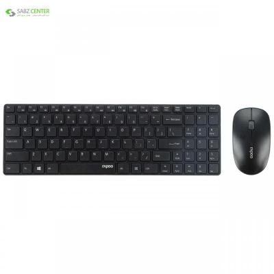 کیبورد و ماوس بی سیم رپو مدل X9310 Rapoo X9310 Wireless Keyboard and Mouse - 0